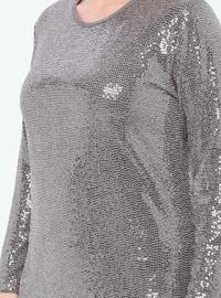 Powder - Unlined - Crew neck - Muslim Plus Size Evening Dress