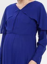 Saxe - V neck Collar - Fully Lined - Cotton - Maternity Dress
