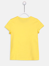 Crew neck - Yellow - Girls` T-Shirt