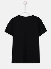 Crew neck - Black - Girls` T-Shirt