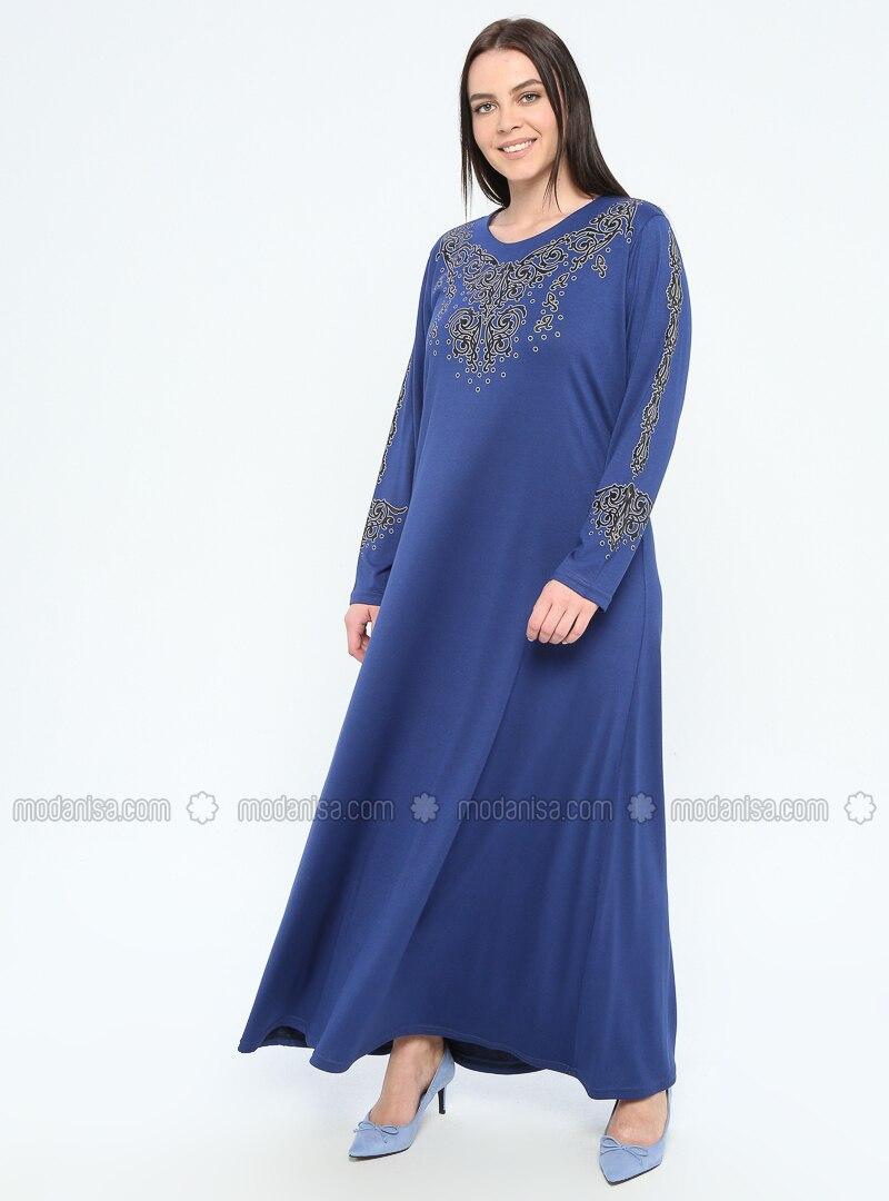 Saxe - Unlined - Crew neck - Viscose - Plus Size Dress