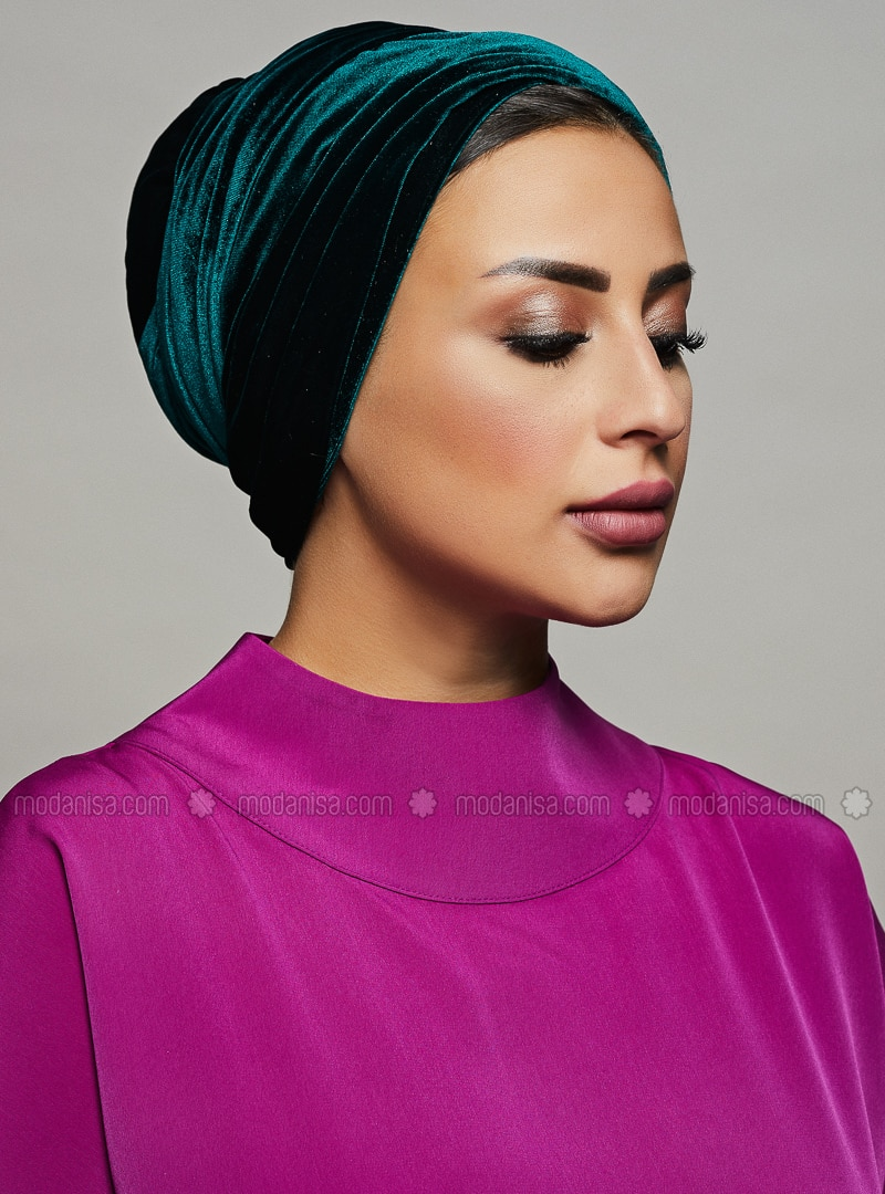 Emerald - Plain - Instant Scarf - Roza