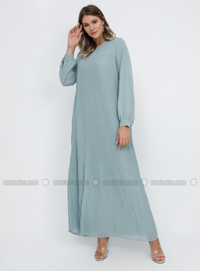 - Fully Lined - Crew neck - Muslim Plus Size Evening Dress