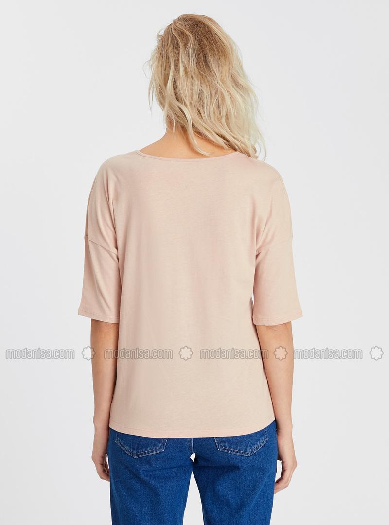 Crew neck - Brown - T-Shirt