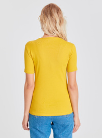Crew neck - Yellow - T-Shirt