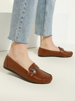 Tan - Flat - Casual - Flat Shoes