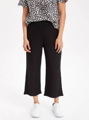 Black - Girls` Pants - DeFacto