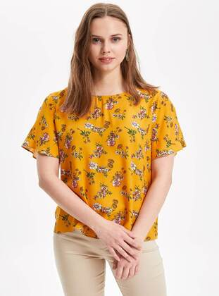 Yellow - Girls` Blouse - DeFacto