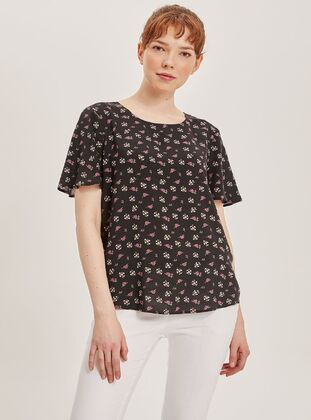 Black - Girls` Blouse - DeFacto