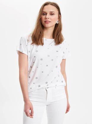 White - Boys` T-Shirt - DeFacto