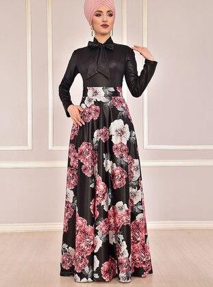Fully Lined - Dusty Rose - Floral - Evening Suit - AYŞE MELEK TASARIM
