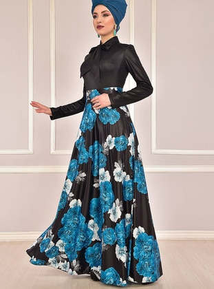Fully Lined - Indigo - Floral - Evening Suit