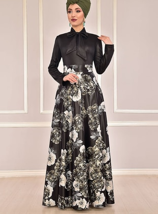 Fully Lined - Emerald - Floral - Evening Suit - AYŞE MELEK TASARIM