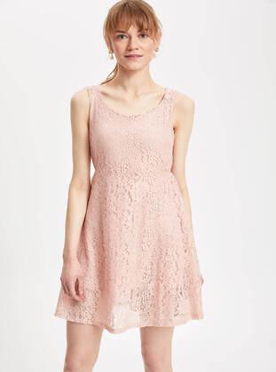 Pink - Girls` Dress - DeFacto
