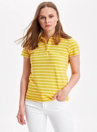 Yellow - Boys` T-Shirt - DeFacto