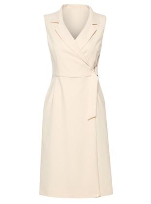 Powder - Shawl Collar - Unlined - Dress