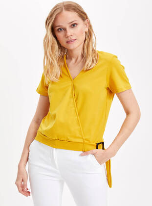 Yellow - Girls` Blouse
