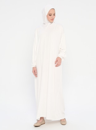 White - Ecru - Unlined - Viscose - Prayer Clothes - Ginezza