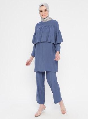 Blue - Navy Blue - Indigo - Unlined - Suit