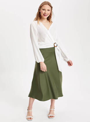 Khaki - Girls` Skirt - DeFacto