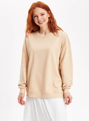 Beige - Girls` Tunic - DeFacto