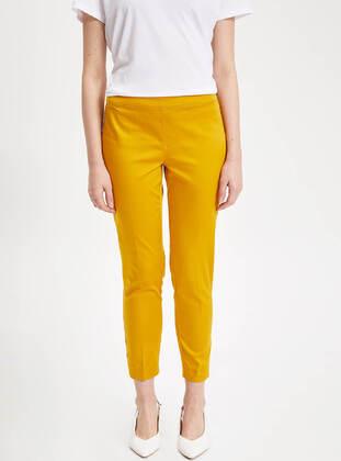 Yellow - Girls` Pants - DeFacto