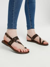 Brown - Sandal - Shoes