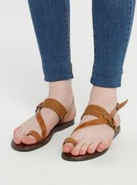 Tan - Sandal - Shoes