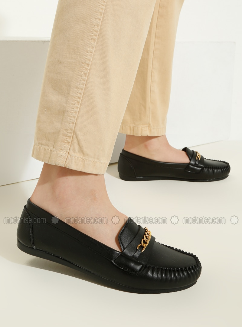 Black - Flat - Casual - Flat Shoes