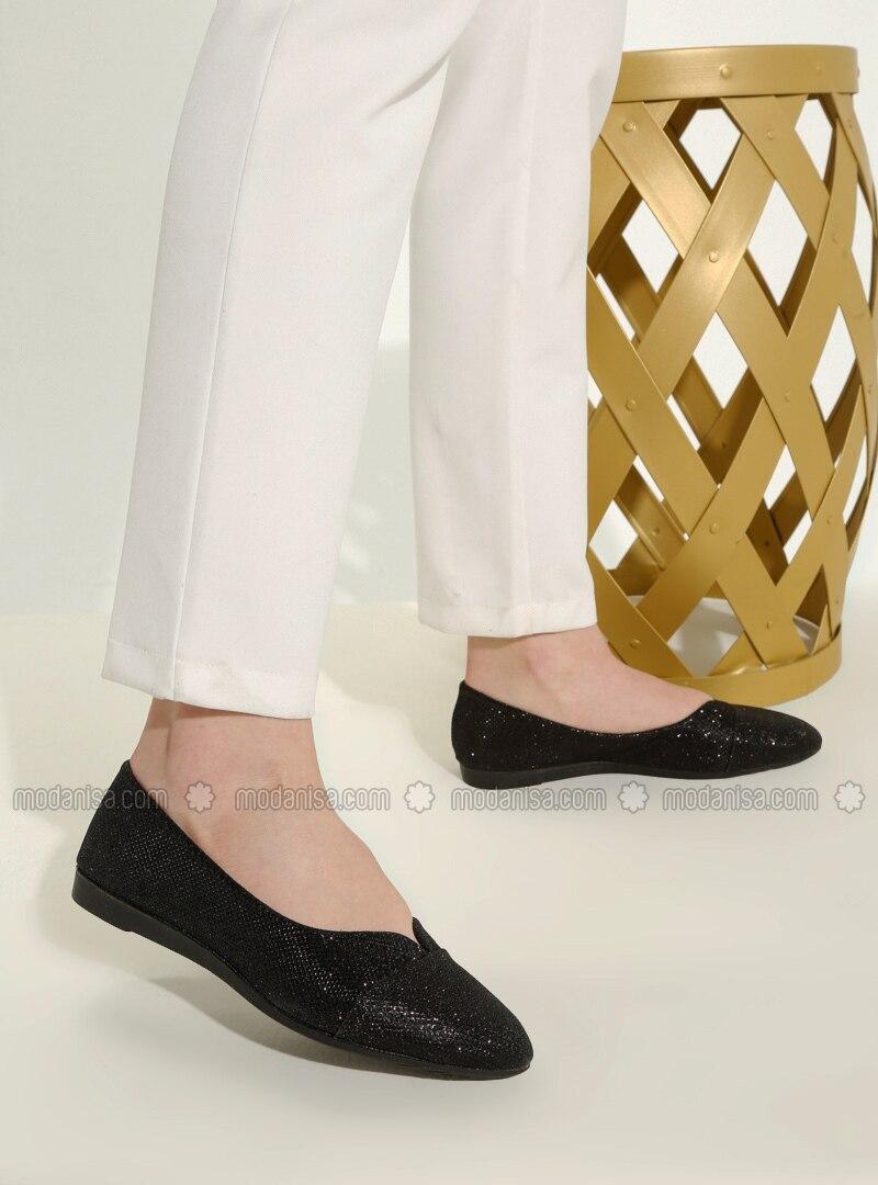Black - Flat - Casual - Flat Shoes