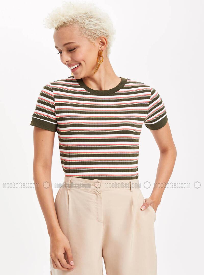 Khaki - Boys` T-Shirt