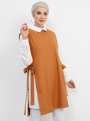 White - Brown - Orange - Ecru - Unlined - Suit