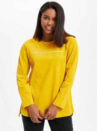 Yellow - Girls` Tunic - DeFacto