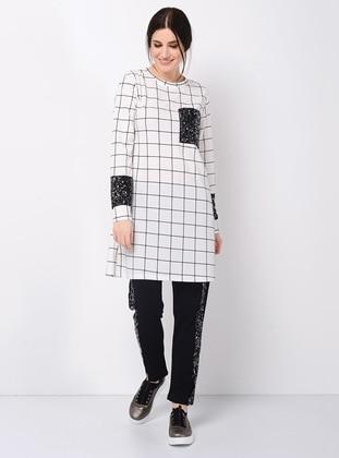 Black - White - Plaid - Unlined - Suit