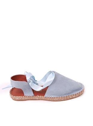 Blue - Casual - Flat Shoes