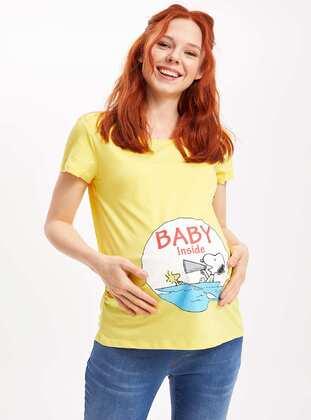 Yellow - Maternity Blouses Shirts - DeFacto