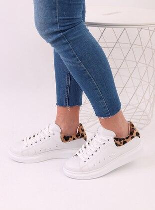 White - Leopard - Sport - Sports Shoes