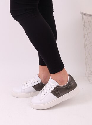 White - Silver - Sport - Sports Shoes