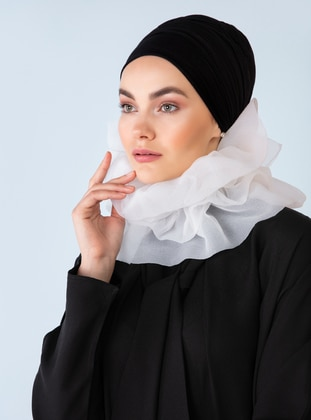 Black - Polo neck - Unlined - Dress
