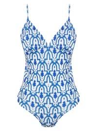 Blue - White - Bikini