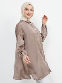 Mink - Point Collar - Blouses