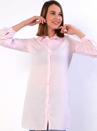 Pink - Point Collar - Blouses