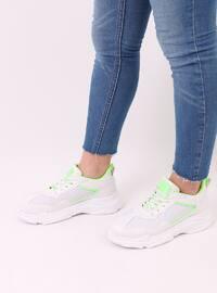 Green - White - Sport - Sports Shoes - Dujour Paris
