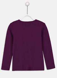 Crew neck - Purple - Girls` T-Shirt
