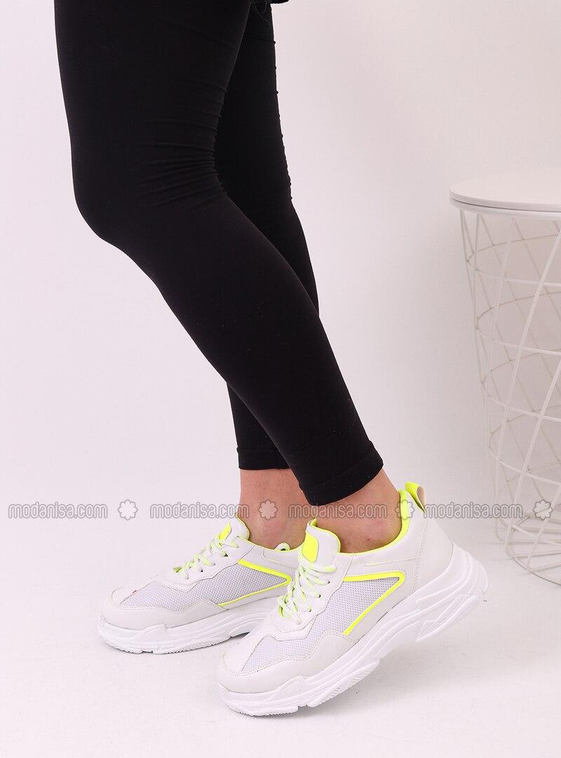 White - Yellow - Sport - Sports Shoes - Dujour Paris