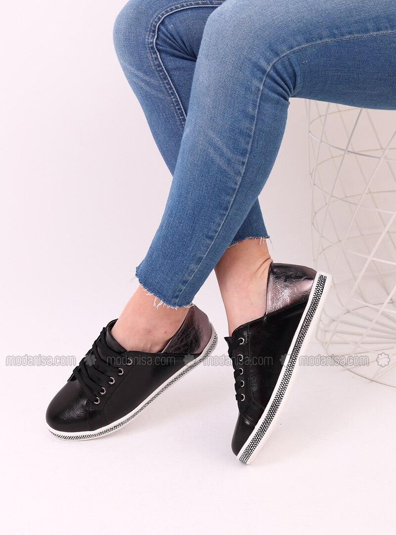 Black - Silver - Sport - Sports Shoes - Dujour Paris