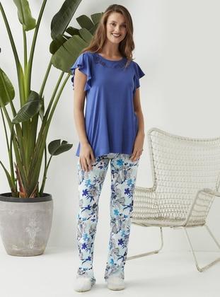Blue - Navy Blue - Pyjama