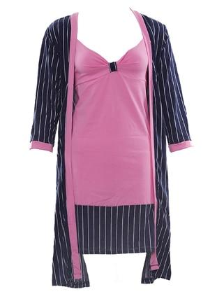 Pink - Multi - Cotton - Nightdress
