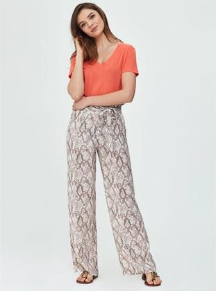 Beige - Multi - Viscose - Pyjama - DAGİ