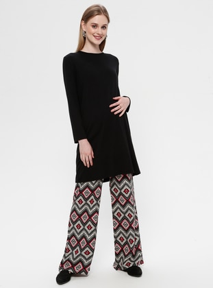 Black - Viscose - Maternity Pants